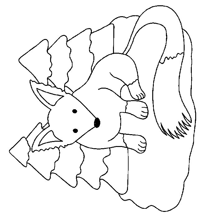 animated coloring pages fox image 0002