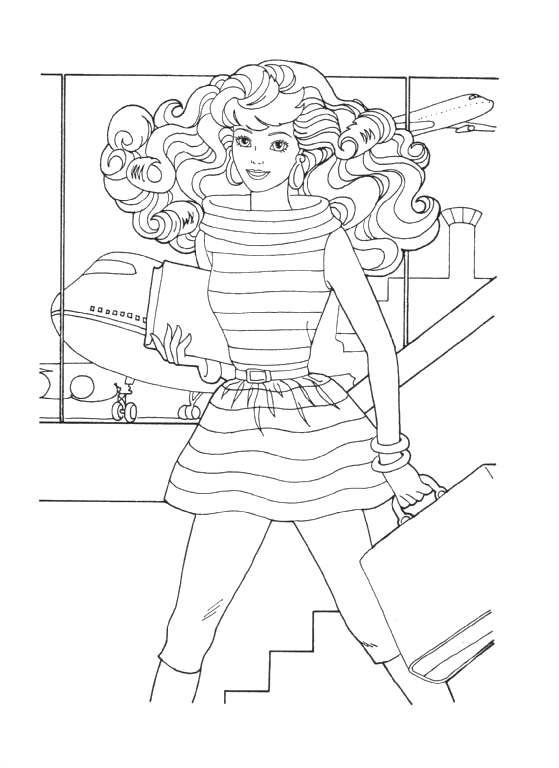 Coloring Pages Barbie Animated Images Gifs Pictures