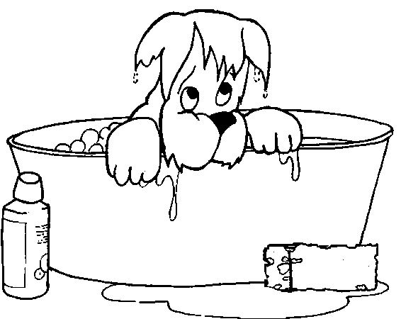 Coloring Pages Bath Animated Images Gifs Pictures