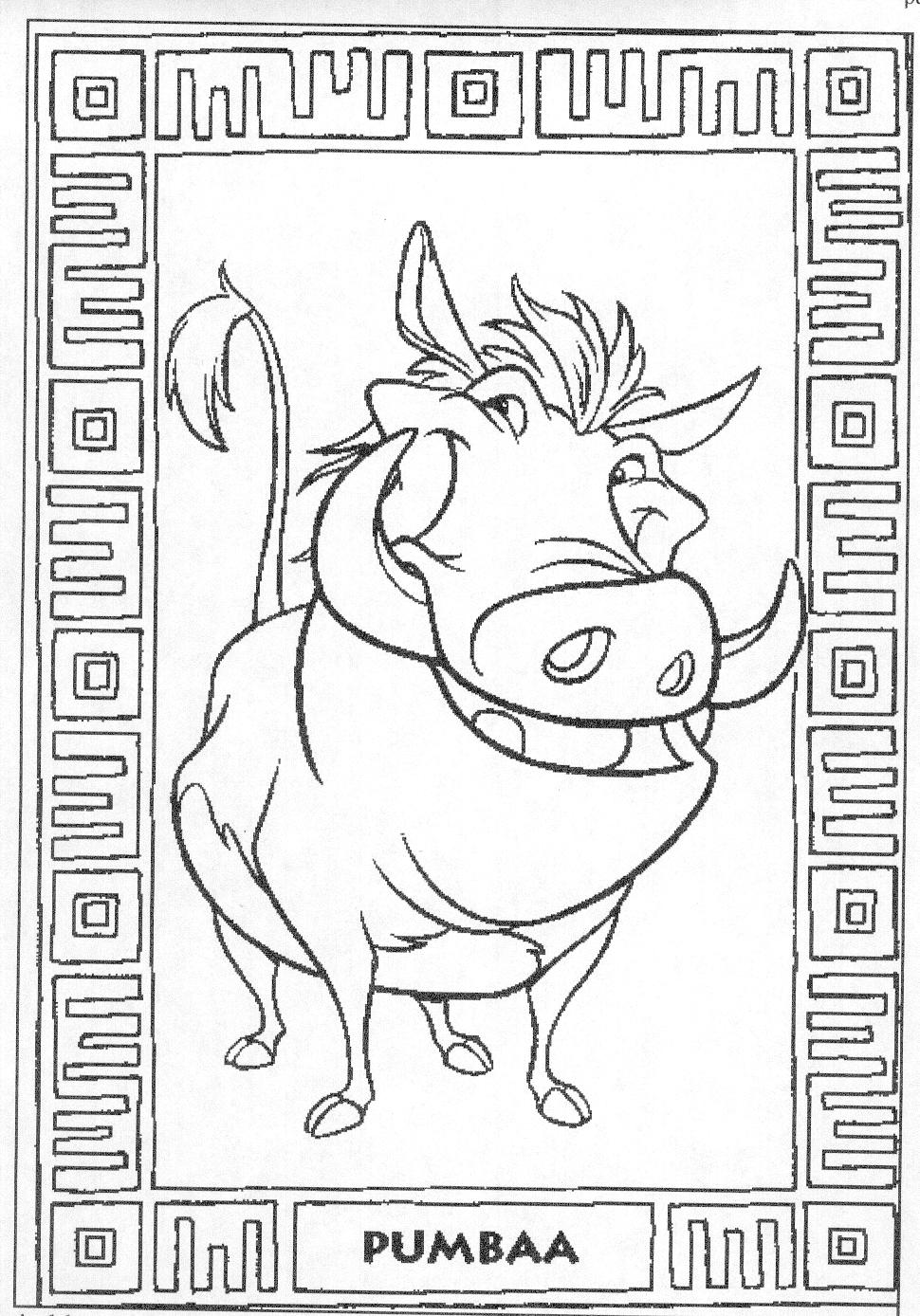 animated coloring pages the lion king image 0099