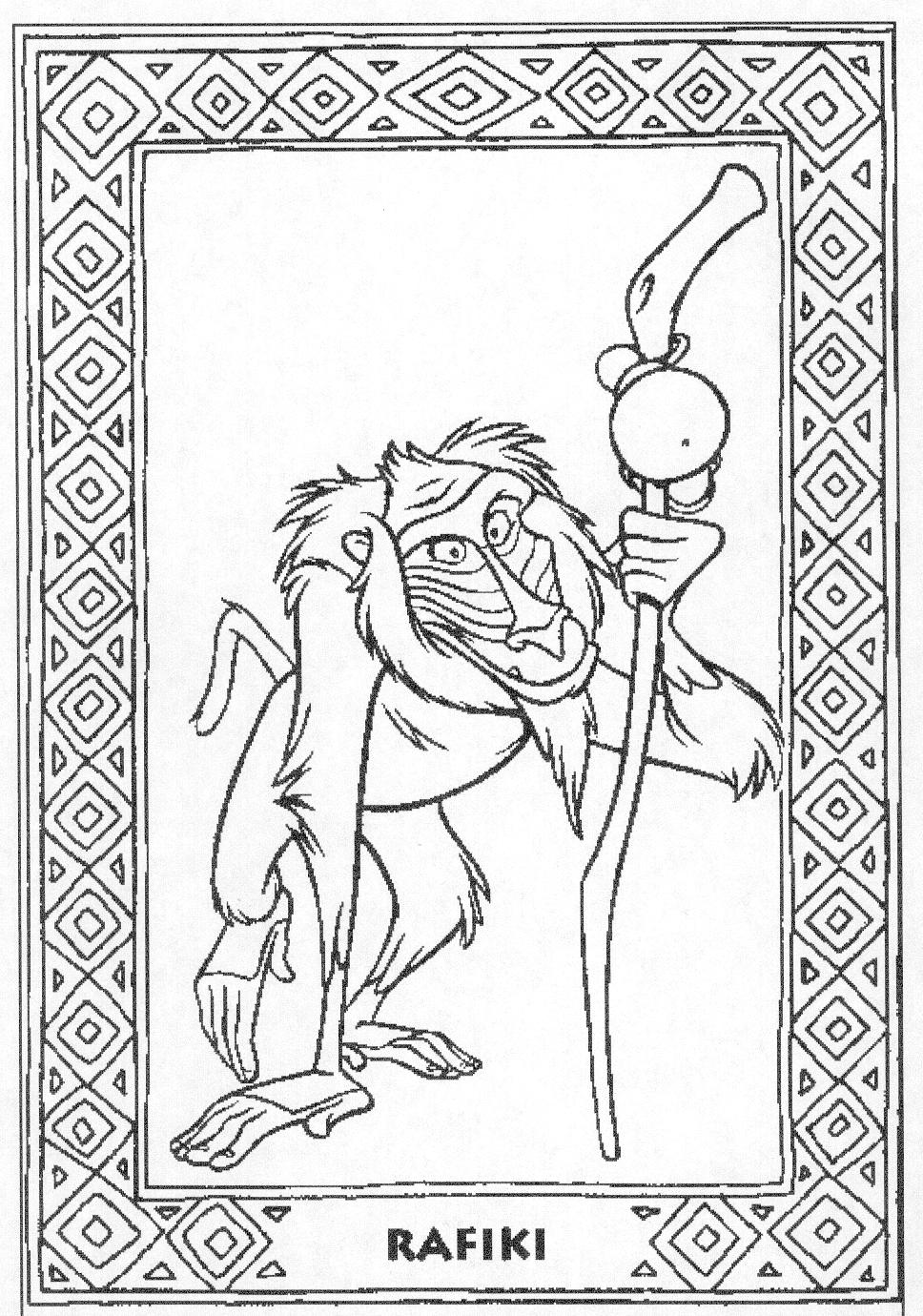 animated coloring pages the lion king image