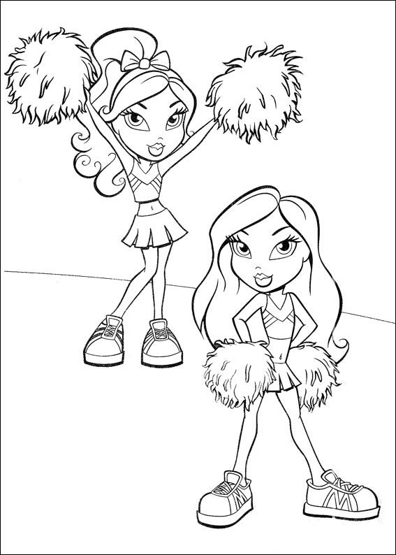 Coloring Pages Bratz Animated Images Gifs Pictures