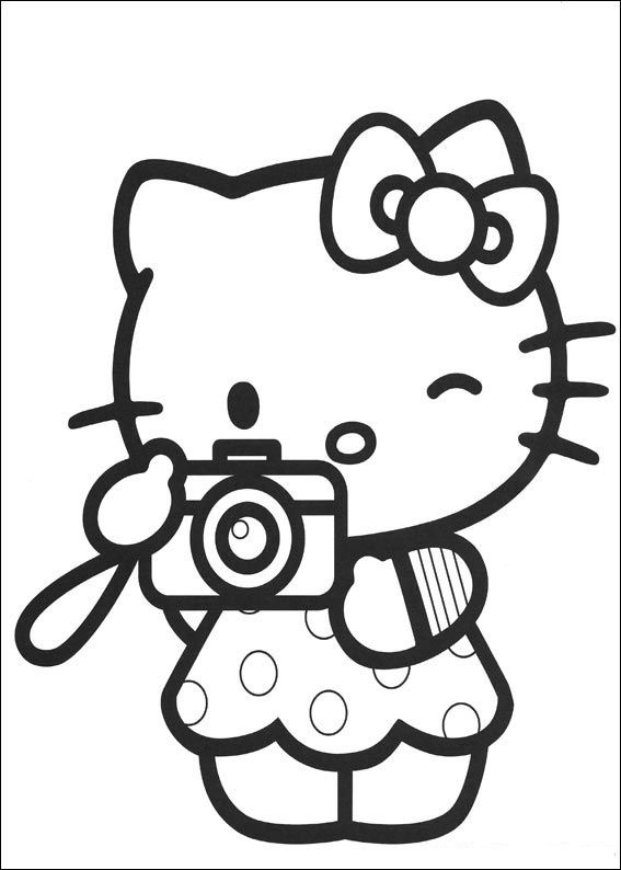 ▷ Coloring Pages Hello Kitty: Animated Images, Gifs, Pictures ...