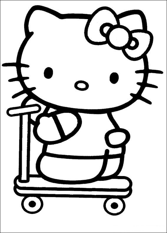 Animated Coloring Pages Hello Kitty Image 0020