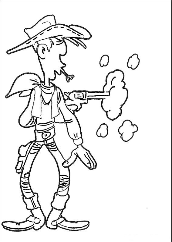 Coloring Pages Lucky Luke Animated Images Gifs Pictures
