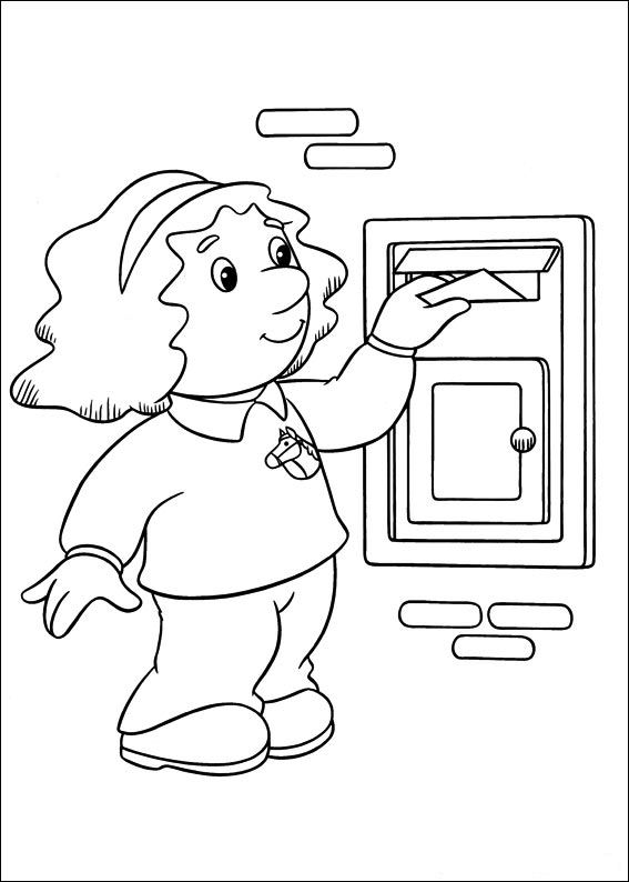 Coloring pages postman pat animated images gifs pictures animations 100 free - Facteur dessin ...