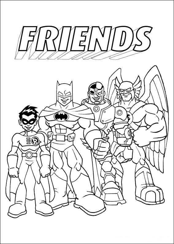 ▷ Coloring Pages Super Friends: Animated Images, Gifs, Pictures ...