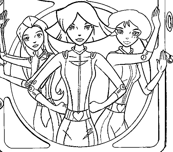 coloring pages totally spies - photo#30