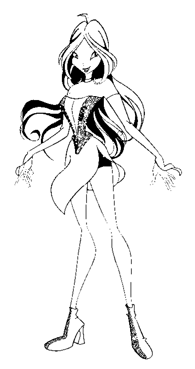 Coloring Pages Winx Animated Images Gifs Pictures